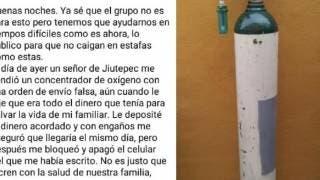 Aguas: estafan en Morelos ahora con venta de tanques de oxígeno 2