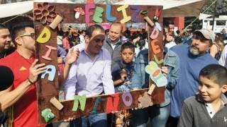 "Evento. El festejo se realizó en la Plaza Alameda ""Luis Donaldo Colosio"", de la capital morelense"