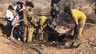 Colectivos de búsqueda encuentran pozo con cuerpos humanos ardiendo 2