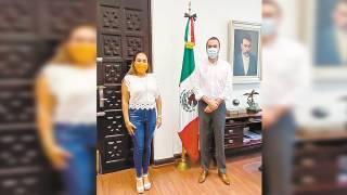 Recibe secretario de Gobierno de Morelos a nueva representante de los alcaldes  2
