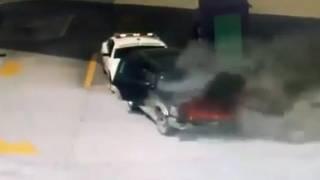 Elemento de Guardia Nacional se viste de héroe y evita explosión en gasolinería, por auto en llamas 2