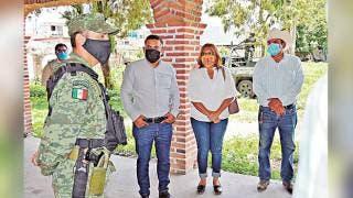 Recorren predio para Guardia Nacional en Yautepec 2
