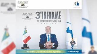 Informa rector de la UAEM, Gustavo Urquiza, sobre su tercer año de gestión 2