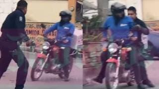 Motociclista que llevó a policía, el héroe del día en Morelos 2
