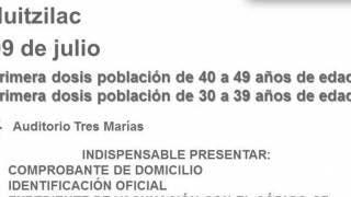 En Huitzilac vacunarán a los de 30 a 39 y 40 a 49 años vs COVID19 2