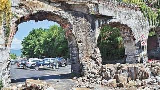 Pagará seguro del INAH daños a los Arcos de San Carlos 2