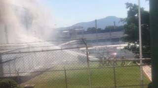 Incendio en una fábrica de CIVAC, Jiutepec, moviliza a corporaciones 2