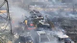 Calcinados varios autos en Jiutepec tras fuerte incendio en corralón  2