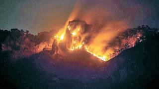 Sufren quemaduras seis brigadistas en incendio de Tepoztlán 2