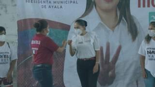 Se compromete Juanita Guerra a gestionar rehabilitación de drenaje en Ayala 2
