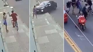Joven roba celular a una mujer, novio atropella a ladrón y le da una paliza 2