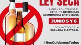 Ordenan en Morelos ley seca 5 y 6 de junio, por elecciones 2