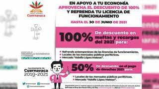 Ofrecen descuentos en licencias de funcionamiento en Cuernavaca 2