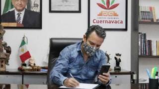 Reaparece alcalde de Cuernavaca en oficina tras ausencia por COVID19 2
