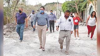 Supervisan trabajos en Loma Sur de Emiliano Zapata 2