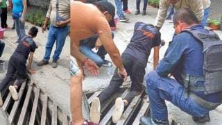 Cae niño en alcantarilla y se lesiona pierna en Jiutepec 2