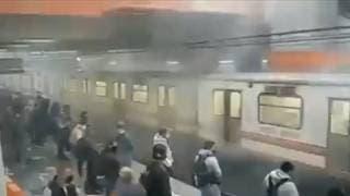 Ahora, reportan humo en vagones del Metro Pantitlán 2