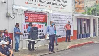 Desconocen Morenistas a dirigencia; toman el partido en Cuernavaca  2