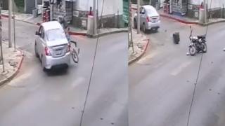 Grave un repartidor tras chocar contra auto en avenida San Diego, de Cuernavaca 2