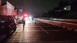 Muere joven motociclista tras accidentarse en el Paso Express Cuernavaca 2