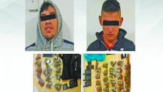 """Detienen a 2 """"narquitos"""" con droga en Arboleda Chipitlán, Cuernavaca 2"""