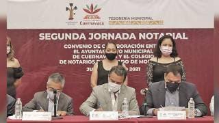 Acuerdan Ayuntamiento de Cuernavaca y notarios campaña de descuentos 2