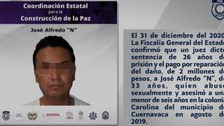 Indaga Fiscalía muerte de reo que violó y mató a una niña en Cuernavaca 2
