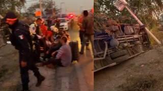 Vuelca ruta en la Cuernavaca-Acapulco, en Temixco; hay 12 heridos 2