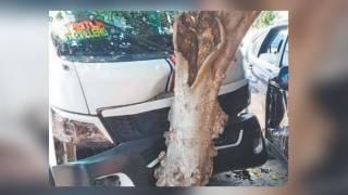 Salen 3 lesionados al chocar ruta y camioneta en Cuautla 2