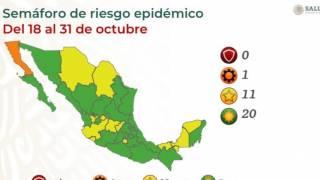 Morelos se queda en amarillo; ya hay 20 estados en semáforo verde 2