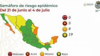 Morelos continuará 2 semanas más en verde; regresan a amarillo a CDMX 2