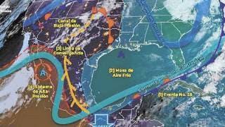 Prevé Servicio Meteorológico Nacional aguaceros y vientos 2