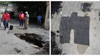 Reparan socavón en Bajada de Chapultepec, Cuernavaca 2