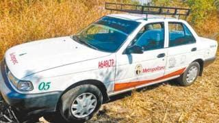 Fotonota: Hallan taxi robado en Temixco 2