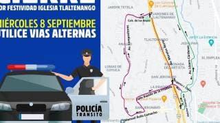 Alerta: habrá cortes viales mañana miércoles por festejos en Tlaltenango, Cuernavaca 2