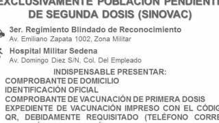 Vacunación para rezagados, viernes 3 y sábado 4 de septiembre en Cuernavaca 2
