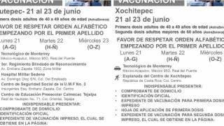 Vacunarán a los de 40 a 49 años en Jiutepec y Xochitepec del 21 al 23 de junio 2