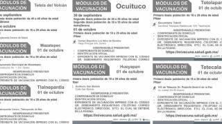 Vacunación: Siete municipios de Morelos aplicarán primer dosis a jóvenes de 18 a 29 años 2