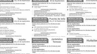 Vacunación: 10 municipios de Morelos aplicarán primera dosis de Pfizer a los de 18 a 29 años 2