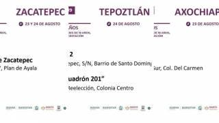Vacunación en Tepoztlán, Zacatepec y Axochiapan, llega segunda dosis para los de 30 a 39 años 2
