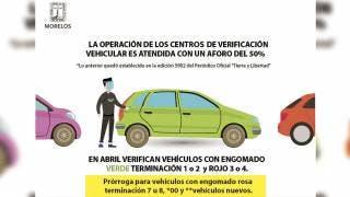 Amplían plazo en Morelos para verificar autos con placas 7 y 8 2