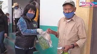Dan apoyo alimentario en Emiliano Zapata 2