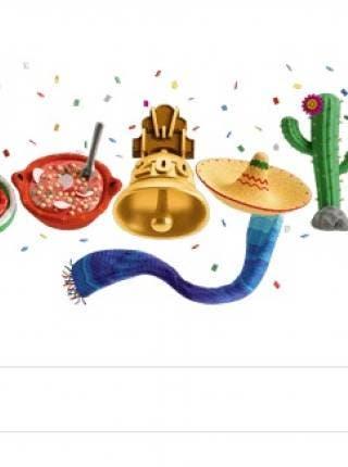 Google celebra la Independencia de México con sarape y pozole