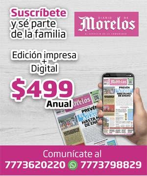 Suscripciones nuevas a Diario de Morelos